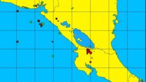 enjambre sismico