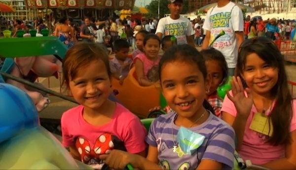 Niños visitan parque de Nicaragua