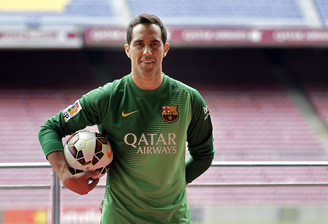 Claudio Bravo en el Barcelona