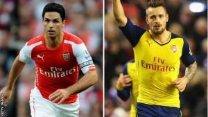 Arteta y Debuchy serán baja tres meses en el Arsenal