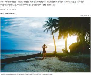 Täydellisten rantojen Väli Amerikka Matka Helsingin Sanomat
