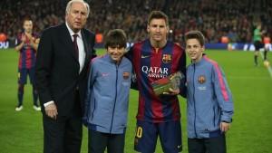 messi reconocido como el mejor goleador de la liga española
