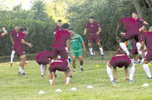 Entrenamiento seleccion nacional de futbol