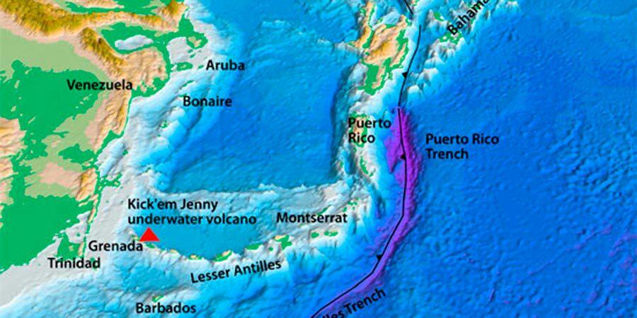El volcán submarino Kick-Em Jenny