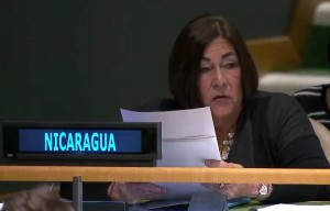 La embajadora de Nicaragua ante la ONU, María Rubiales