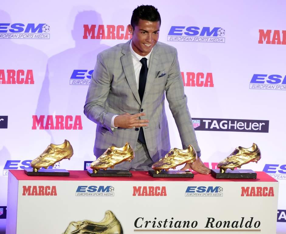 6de0b49574 Cristiano Ronaldo recibe su cuarta Bota de Oro