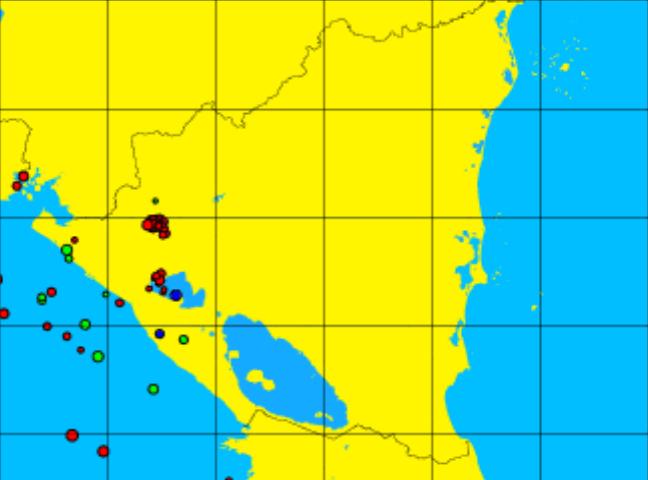 nicaragua sismos hoy 12 octubre 2015
