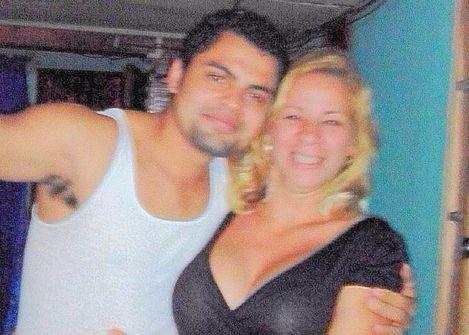 Adrián Salmerón Silva junto a su amante en Costa Rica