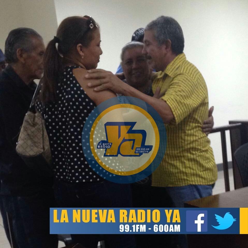 Hilario Roger Blandon junto a su familia en el juicio (1)