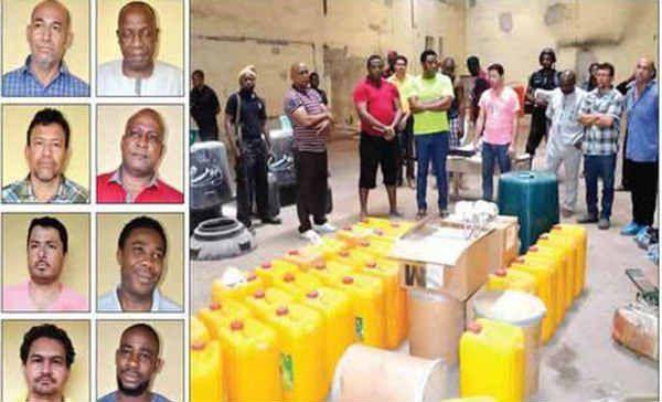 4 mexicanos son arrestados en Nigeria por construir un super-laboratorio de metafentaminas