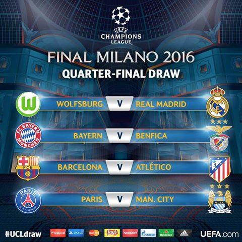 Así quedaron los 4tos de finales de la Champions League