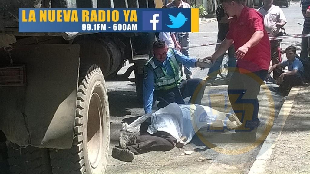 Camión mata a ciclista en Tipitapa (1)