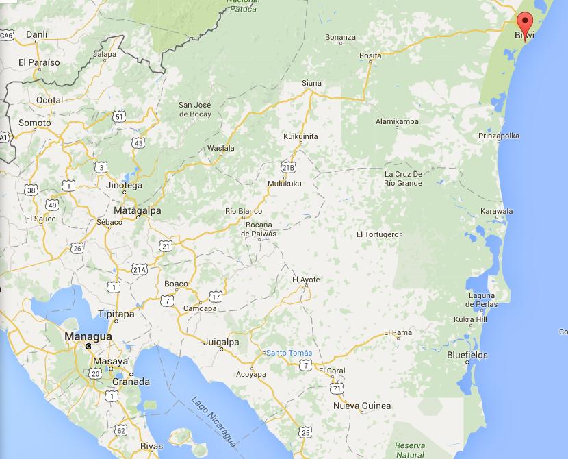 bilwi mapa google