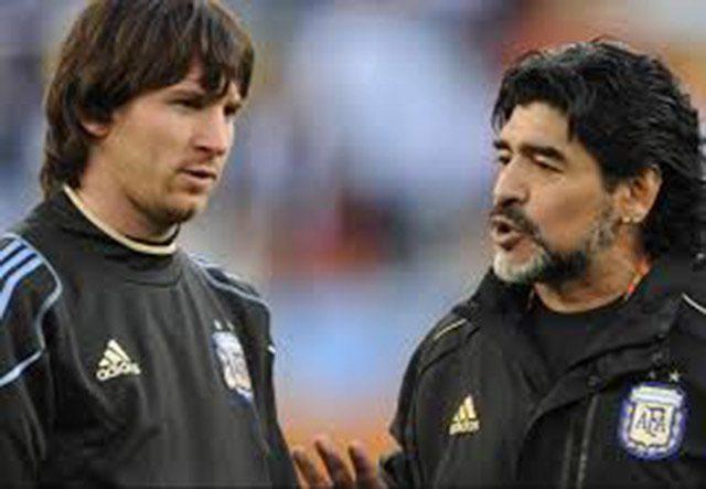 Maradona ataca a Messi