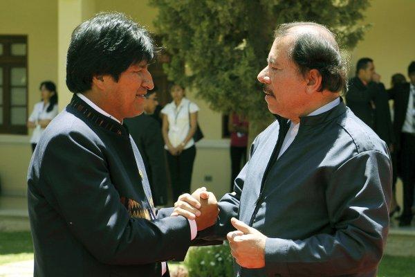 Daniel y Evo Morales
