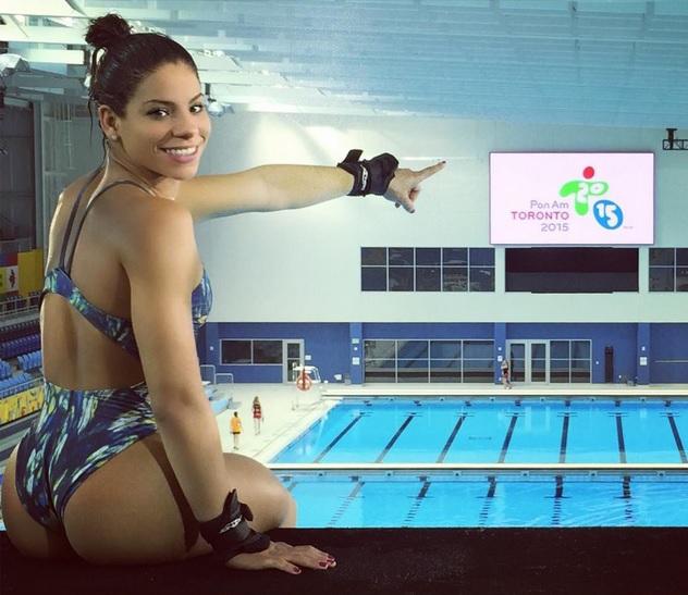 La saltadora brasileña Ingrid de Oliveira