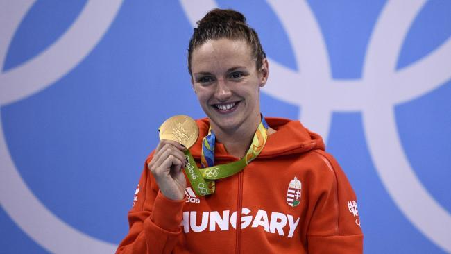Nadadora de Hungría con nuevo récord olímpico en Rio 2016
