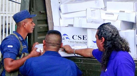 Material electoral llega a Bluefields, Caribe Sur