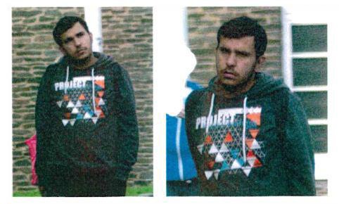"This undated Handout pictures released on October 8, 2016 by the criminal office of the eastern federal state of Saxony shows a person believed to be the 22-year-old Syrian named Jaber Al-Bakr suspected of being involved in the found of explosive traces during the search of an apartment in Chemnitz, eastern Germany. Police in the German state of Saxony said on October 8, 2016 afternoon that a 22-year-old Syrian was the target of a manhunt launched earlier, the day after a bomb plot was uncovered in the town of Chemnitz. / AFP PHOTO / Landeskriminalamt Sachsen / HO / RESTRICTED TO EDITORIAL USE - MANDATORY CREDIT ""AFP PHOTO / Landeskriminalamt Sachsen "" - NO MARKETING - NO ADVERTISING CAMPAIGNS - DISTRIBUTED AS A SERVICE TO CLIENTS"