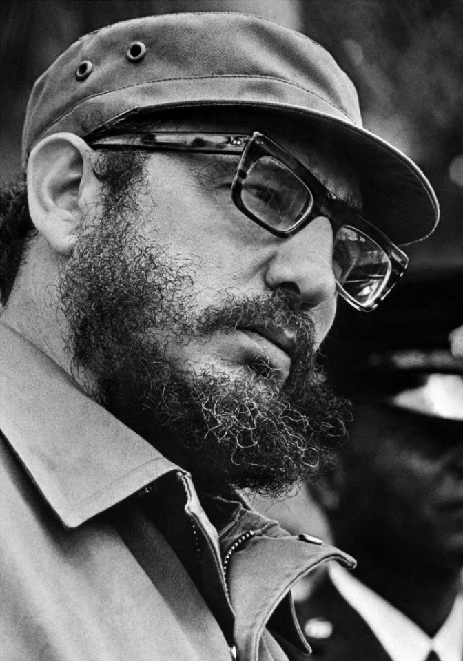 El líder cubano Fidel Castro en abril de 1975 en La Habana