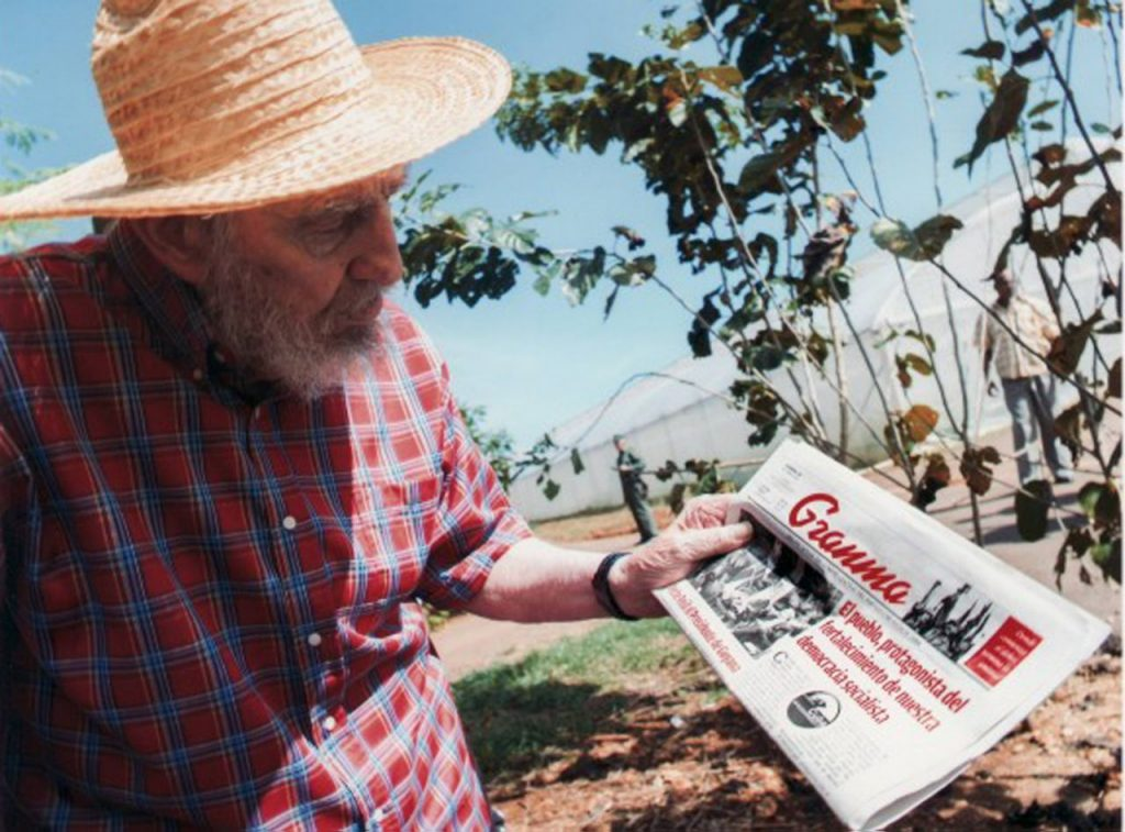 Foto de Fidel Castro publicada en el sitio de Cubadebatem el 22 de octubre de 2012 en La Habana