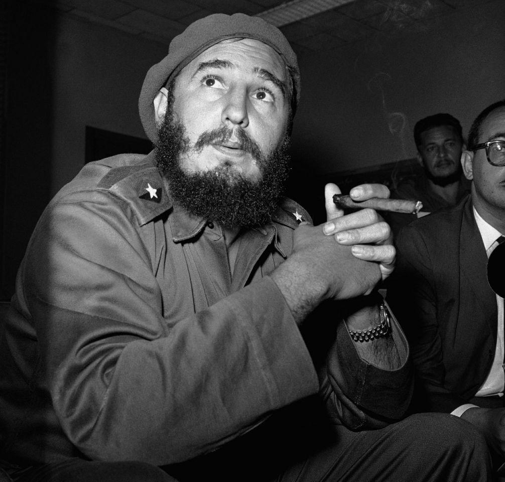 El entonces primer ministro Fidel Castro en una conferencia de prensa el 14 de junio de 1961 en La Habana.