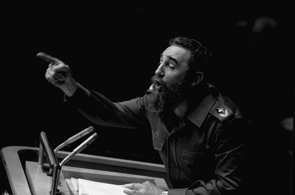 12 de octubre de 1979, el presidente cubano Fidel Castro pronuncia un largo discurso ante la Asamblea General de Naciones Unidas.