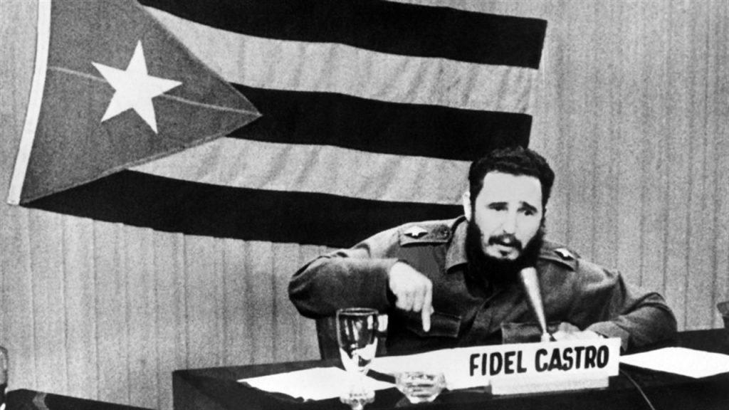 Fidel durante un discurso