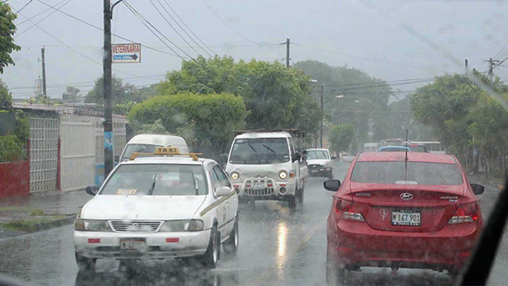 Lluvias en Managua