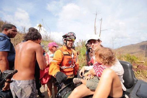 Fuerza de tarea humanitaria venezolana rescató una familia en Dominica