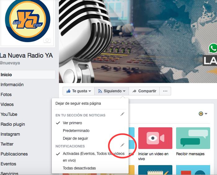 Sigue estas sencillas instrucciones para no perderte nuestras noticias en Facebook