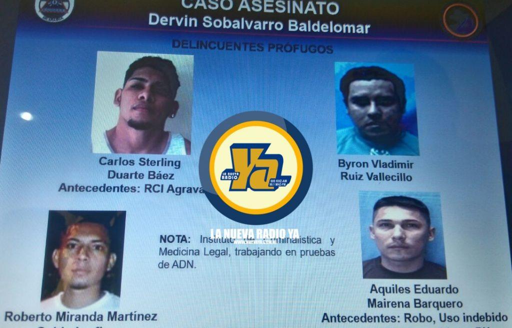 Involucrados en el asesinato del comerciante Dervin Sobalvarro