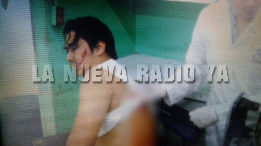 Alexander José Maltes Gómez mientras es atendido tras ser lesionado
