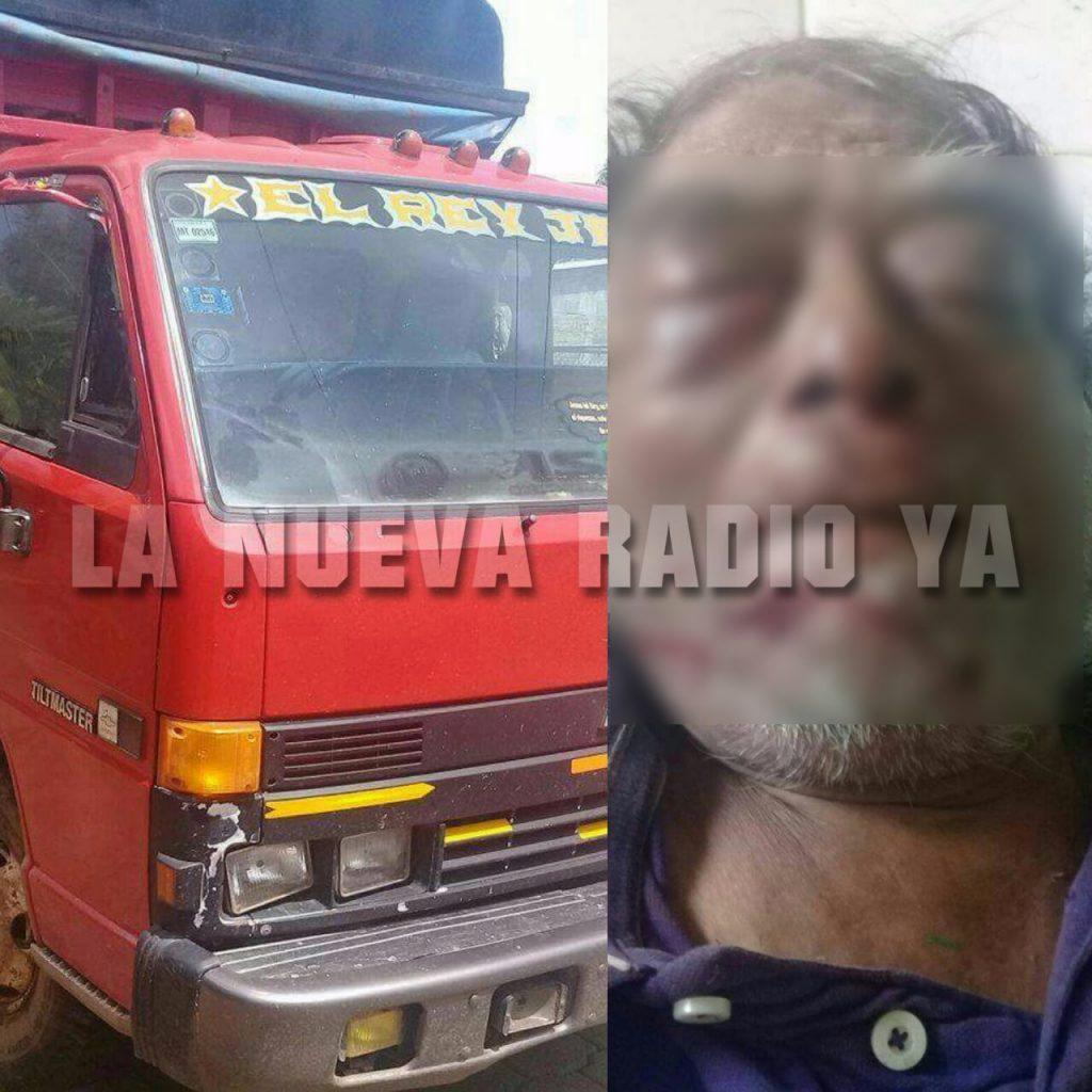 Telésforo Maldonado Vargas murió atropellado por un camión en Nueva Guinea