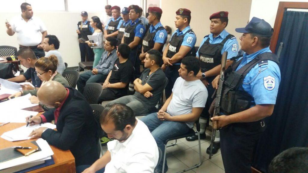 Roberto José Miranda Martínez, Miguel Valentín Suazo Valdés, Wiston Joel Loaisiga Requene y Juan Marcelino Calderón Navas