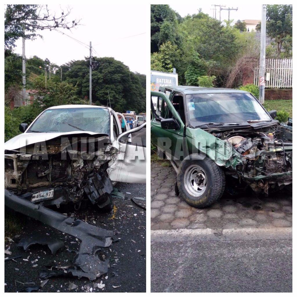 El accidente ocurrió frente a la Escuela Normal José Martí, en la carretera Sébaco-Matagalpa.