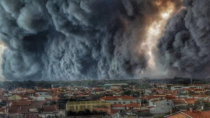 Ola de incendios en Portugal