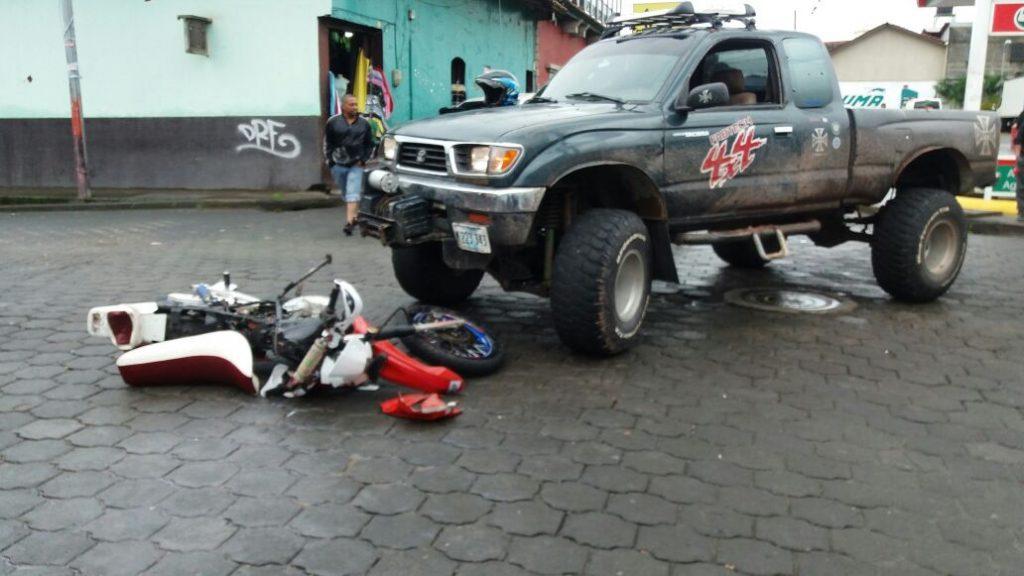 Accidente en motocicleta