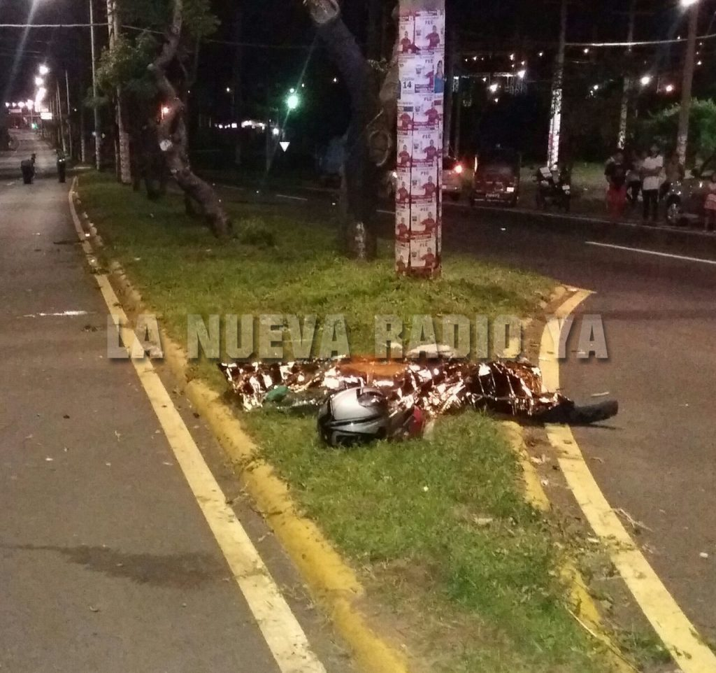 El motociclista Edwin Gago Saavedra fallecido frente a Enatrel de Ciudad Sandino
