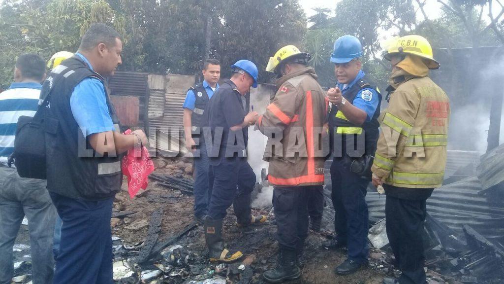 El incendio ocurrió en el barrio 29 de octubre, en la ciudad de Estelí.