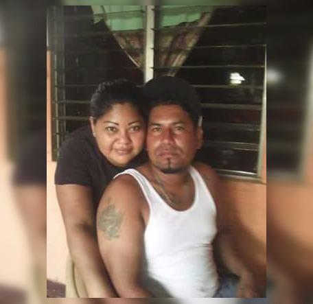 Marlon Antonio Mendoza Palacios y su hermana