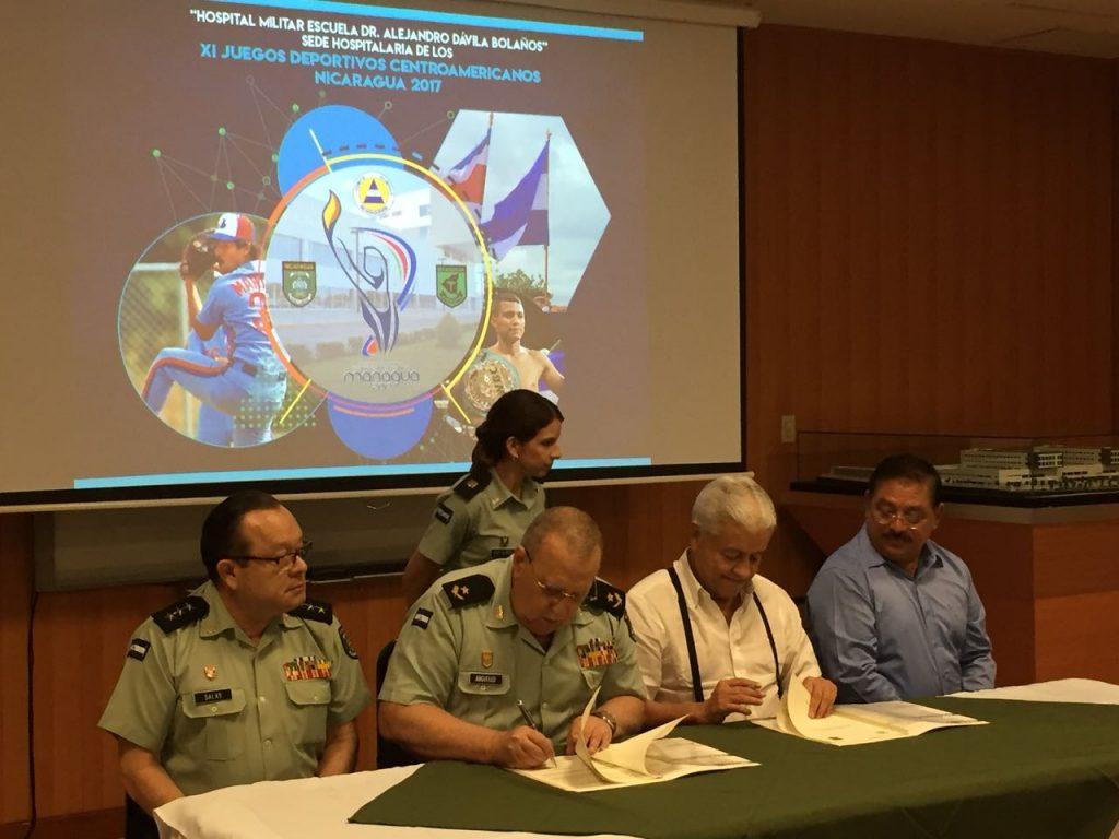 Autoridades del Cuerpo Médico Militar y el Comité Olímpico Nicaragüense firmaron un convenio