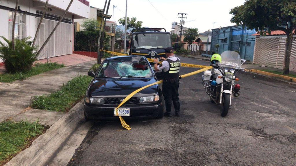 El vehículo homicida foto cortesía de Alonso Tenorio