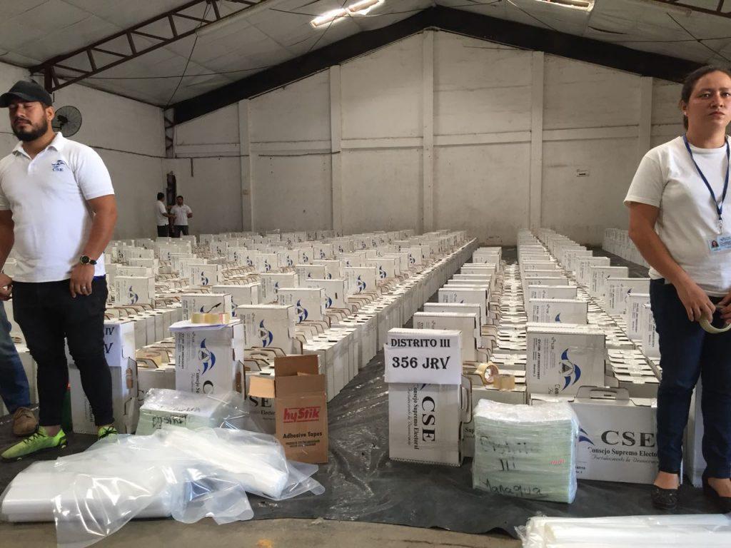 CSE concluye distribución del material electoral