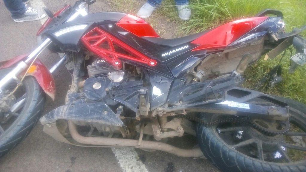 En esta moto se desplazaba Jeffrey Jared Canalesa