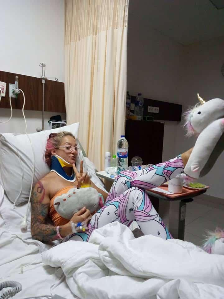 Sam Panda en el hospital