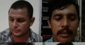 Los 4 abigeos capturados por la policía en Chontales