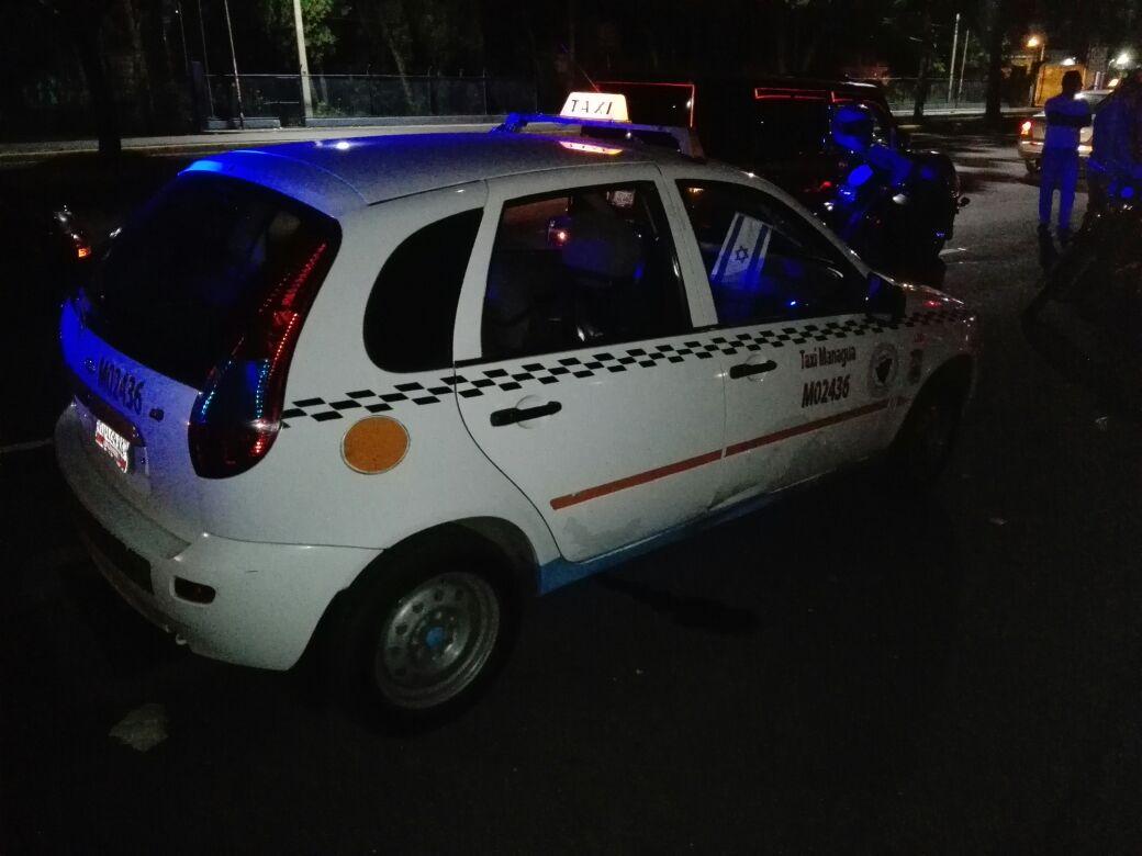 El taxi que fue asaltado