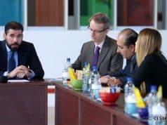 El Compañero Laureano Ortega Murillo, asesor para las inversiones del Gobierno de Nicaragua, sostuvo la mañana de este lunes, una importante reunión, con representantes para las inversiones de la República Francesa en nuestro país.