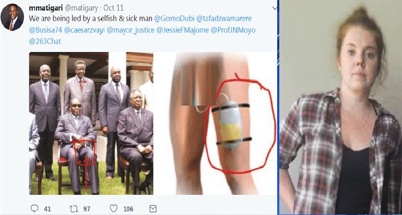 Este es el polémico tuit donde supuestamente la periodista insulta al presidente de Zimbabwe